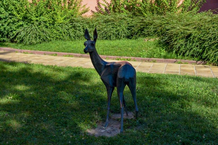 Метална статуя на сърничка в Смолян - Стар център