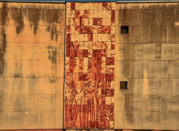 Стенна мозайка в Смолян - Болницата
