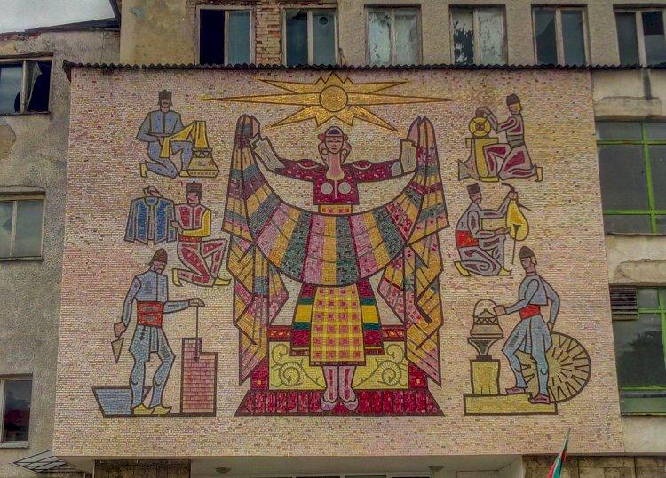 Стенна мозайка в Смолян - Устово