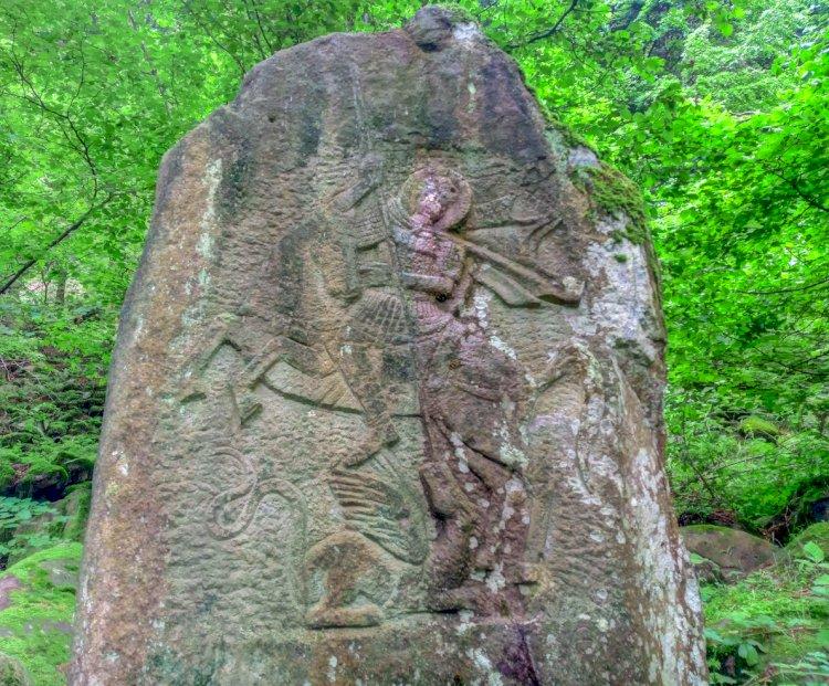 Каменен барелеф на свети Георги - Балиевата вода
