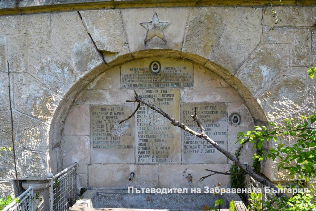 Паметна плоча на чешма за първият учител в Радомирско Една история в снимки - от Пещерския водопад до Враня стена